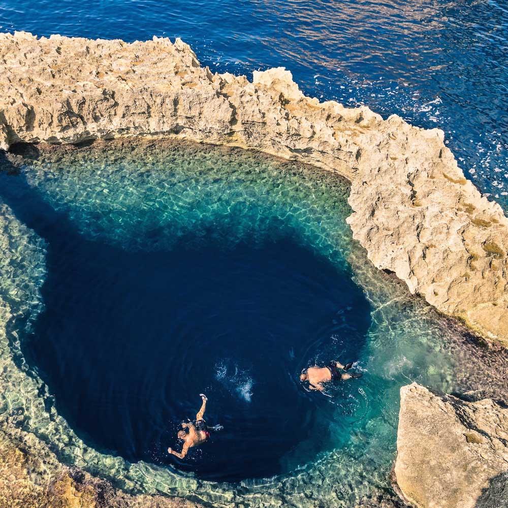 Blue Hole, Gozo Island