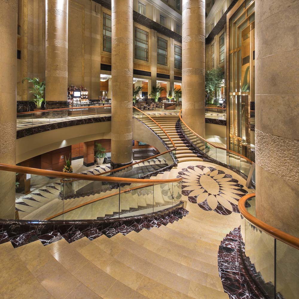Grand Staircase at The Fullerton Hotel